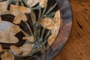 unique plates, artisan pottery, handpainted pottery