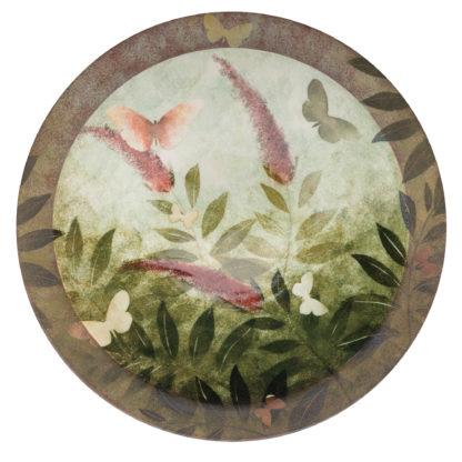 Handmade Rimmed Dish-Buddleia