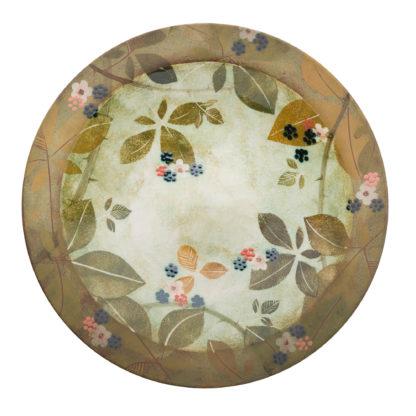 Handmade Rimmed Dish-Bramble