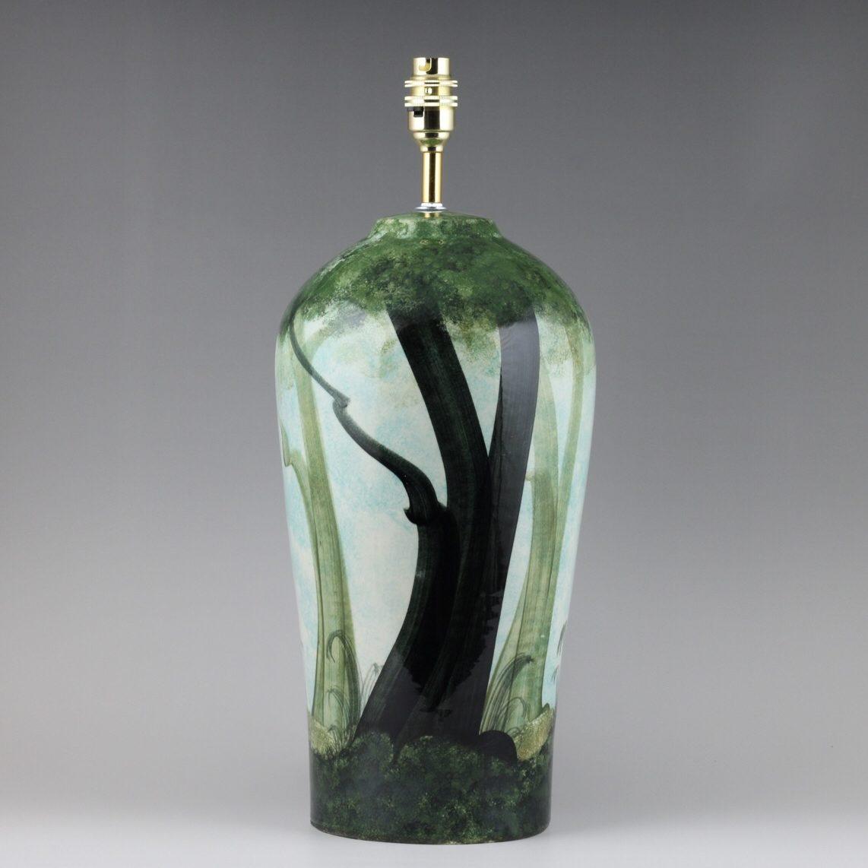 posh table lamps, shropshire pottery, unique pottery