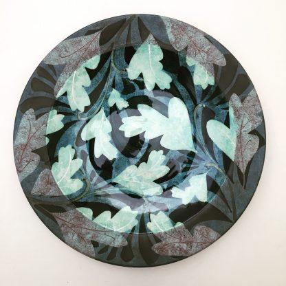 handmade pottery dish, hand painted, shropshire pottery