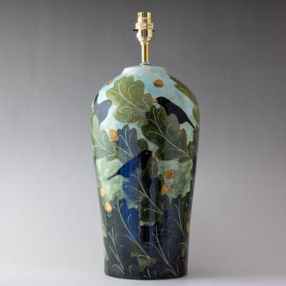 blackbird design, Handmade pottery , table lamp