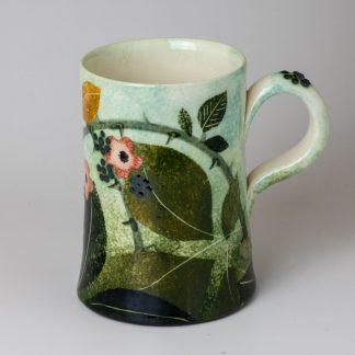 Handthrown , handmade mug, artisan pottery