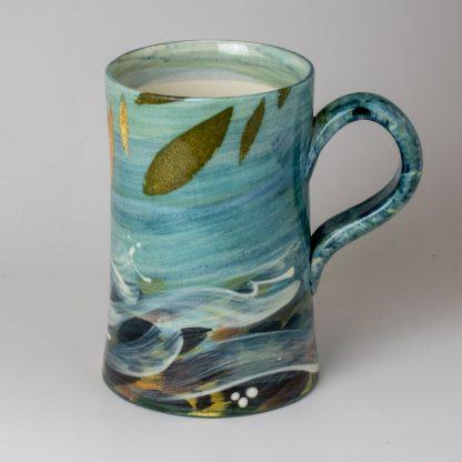 river design, shropshire pottery , handmade mug